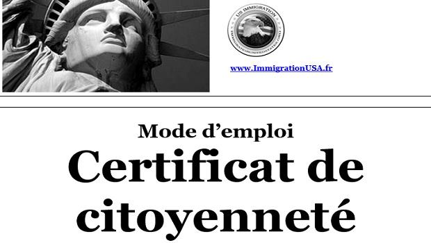 certificat prouvant la nationalité américaine
