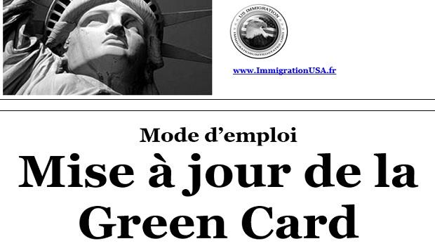 mettre à jour sa carte verte
