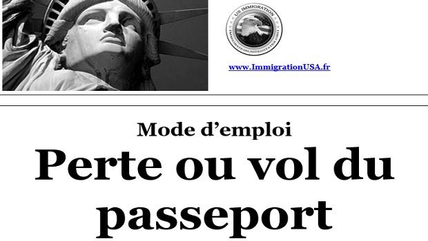 passeport américain perdu ou volé