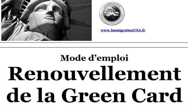 renouvellement de la carte verte