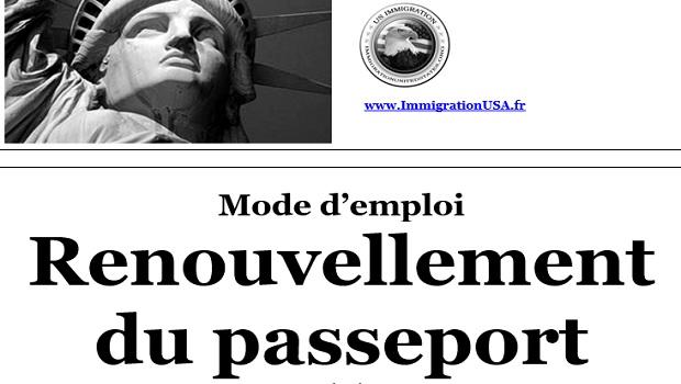 renouvellement d'un passeport américain