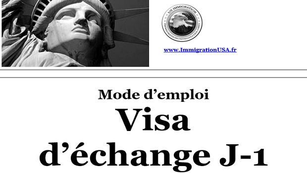 visa j-1 pour faire un échange aux états-unis