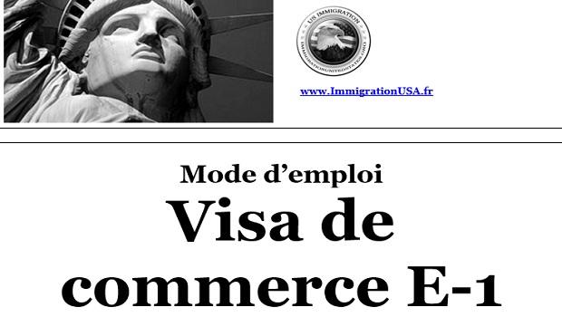 visa pour faire du commerce aux états-unis
