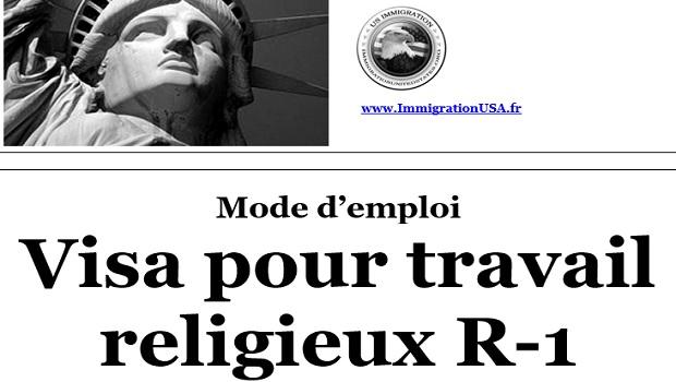 visa r-1 pour les travailleurs religieux