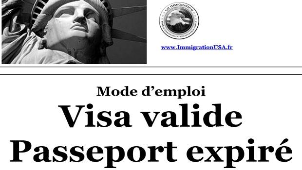visa américain valide dans un passeport périmé