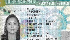 escroqueries permis de résident permanent américain
